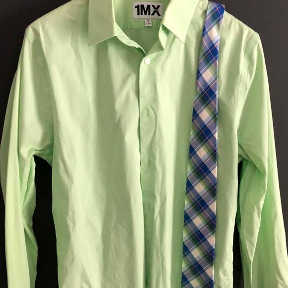 Express Shirts Light Green Dress Shirt With Matching Tie Poshmark